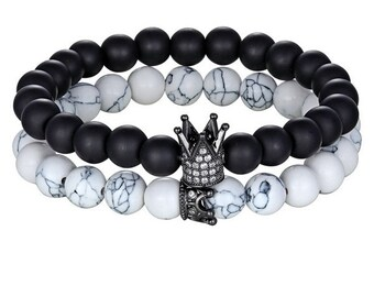 Night King Crown Beaded Bracelet Set