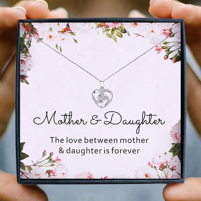 Mothers Necklace For Women Heart /& Love Mother Daughter Necklace Mother/'s Day Necklace Mothers Jewelry Mom Birthday Gift