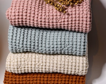 Soft Linen Baby Blanket / Baby blanket made from linen / Linen Waffle Swaddle