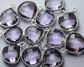 925 Sterling Silver,Gray Chalcedony Faceted Oval Shape Connector 5 Piece Of 23mm Approx