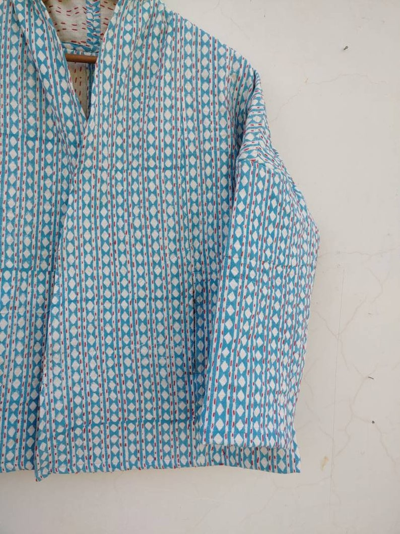 Kimono jacket /& coats women wear gift for her kantha short kimono indigo color Boho,indigo