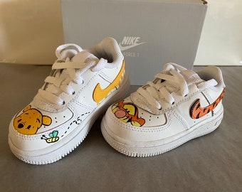 Honey Bear Custom Nike Air Force 1 Custom Design Size 1c-14Mens