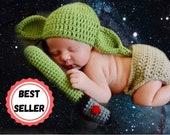 Baby Yoda Crochet ~ Crochet Baby Yoda ~ Baby Yoda Hat ~ Baby Yoda Newborn ~ Crochet Yoda ~ Yoda Crochet ~ Mandalorian Crochet,The Star Child