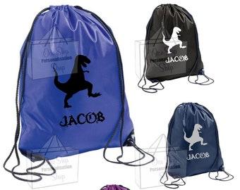 Personalised Turtle Gym Bag Swim Nursery Drawstring School PE Kit Sports Kids