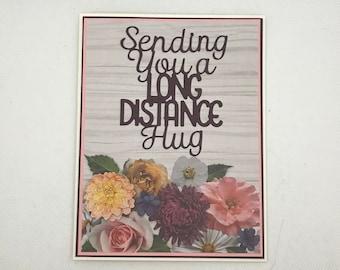 Handmade Greeting card, Thinking of you card, Thinking+of+you card, Flower card, Thinking of you cards, Handmade blank card