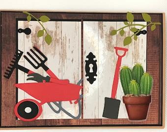 Card for Gardener, Happy birthday for gardener, Gardening card, Handmade greeting card, Garden shed card, Potting shed card, blank card