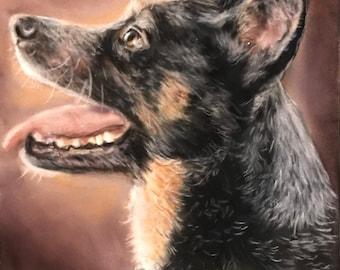 German Shepherd Painting Original Art Dog Decor Debbie Ritter