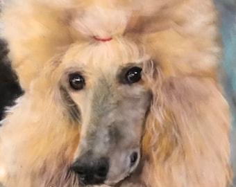 Standard Poodle Painting Fancy Dog Animal Lover Original Pastel Debbie Ritter