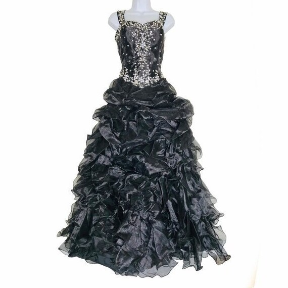Handmade Gown Quinceanera Ruffle Princess Ball Gow