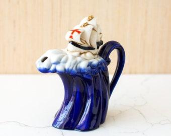 Vintage CARDEW Ship Upon The Seas Mini Teapot / Paul Cardew Design / Creamer
