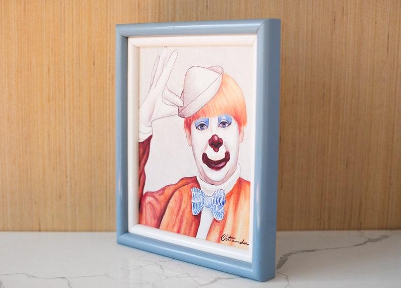 Original Clown Painting by Ostrander  Signed Art