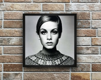 Nordic Style Scandinavian Style Furnish with the prints. Typographical Printing Poster with Twiggy Gift Idea Decor walls