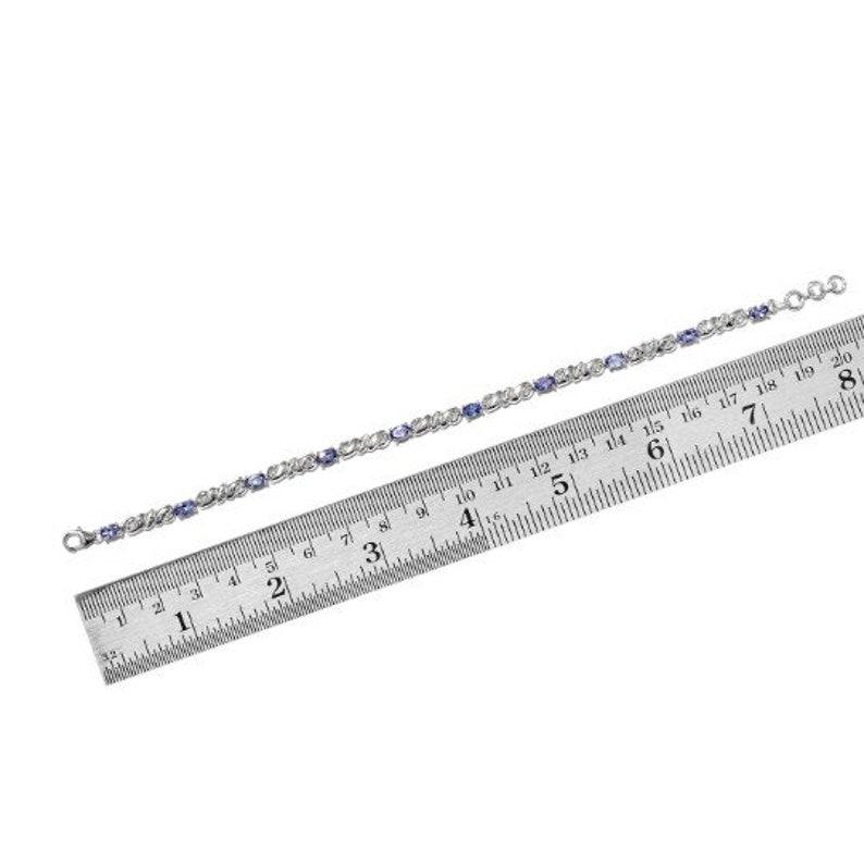 7.50 In Premium AAA Tanzanite Platinum Over Sterling Silver Bracelet TGW 2.20 cts Tanzanite Jewelry Tanzanite Gemstone Gift For Her