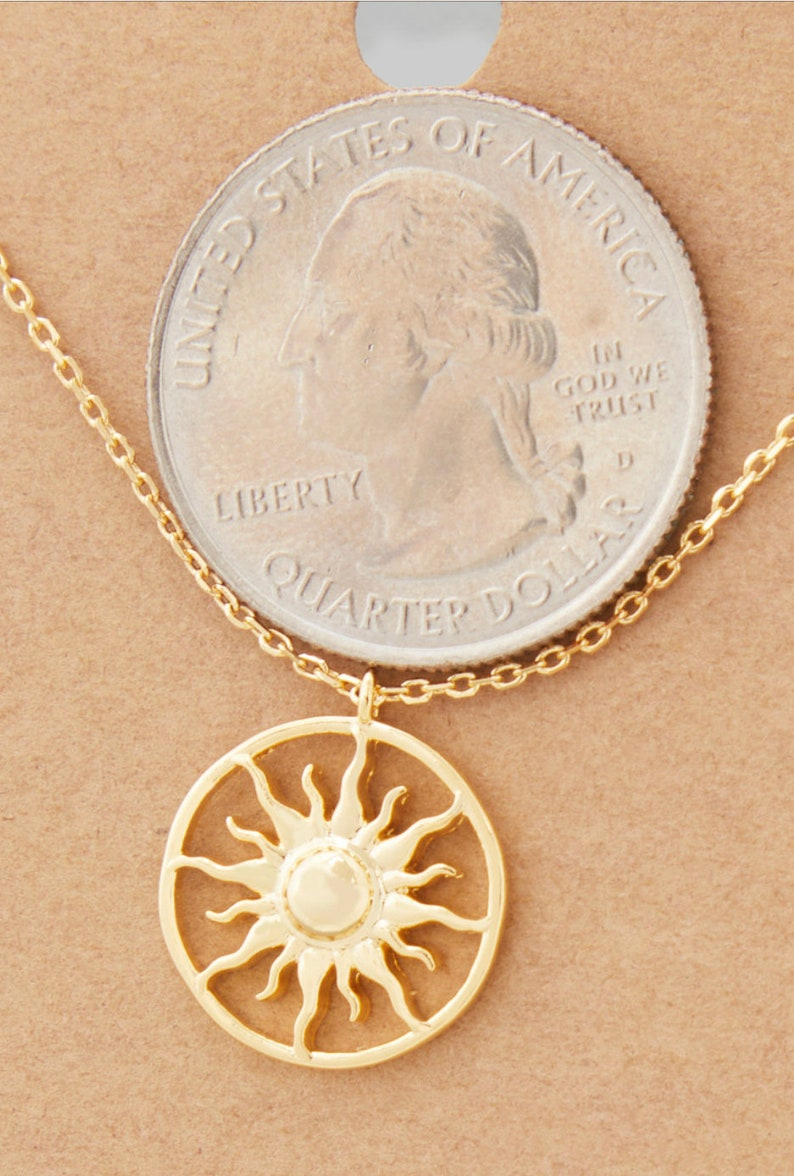 Gifts for the Holidays 18k Gold Plated Blazing Sun Necklace