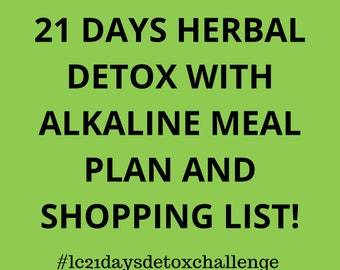 Detox Capsules, Meal Plan and Shopping List (21 Days Detox)