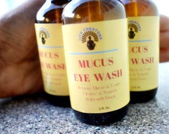 Mucus Eye Wash, Eye Bright Wash, Remove Mucus From Eyes - 2FL Oz