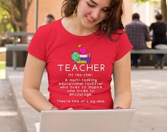 School Teacher Shirt Computer Team Tee T-Shirt Unisex Elementary Back to School First Day Appreciation Group Gift School Name