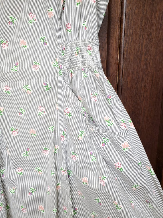 1940s Dress S Small Neat n' Tidy Apron Dress Swir… - image 4