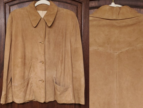 1940s 1950s Western Suede Jacket