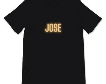 Jose Glowing Orange Unisex Short Sleeve T-Shirt