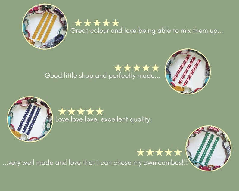 decorate your house Red Mini Polka Dot Fabric Chain Pack of 3 great for kids Learning tool