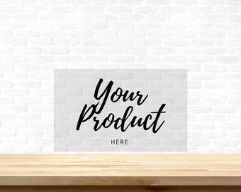 Backdrop Urban Myth Painted White Brick Photo Background Material and Size Options Available