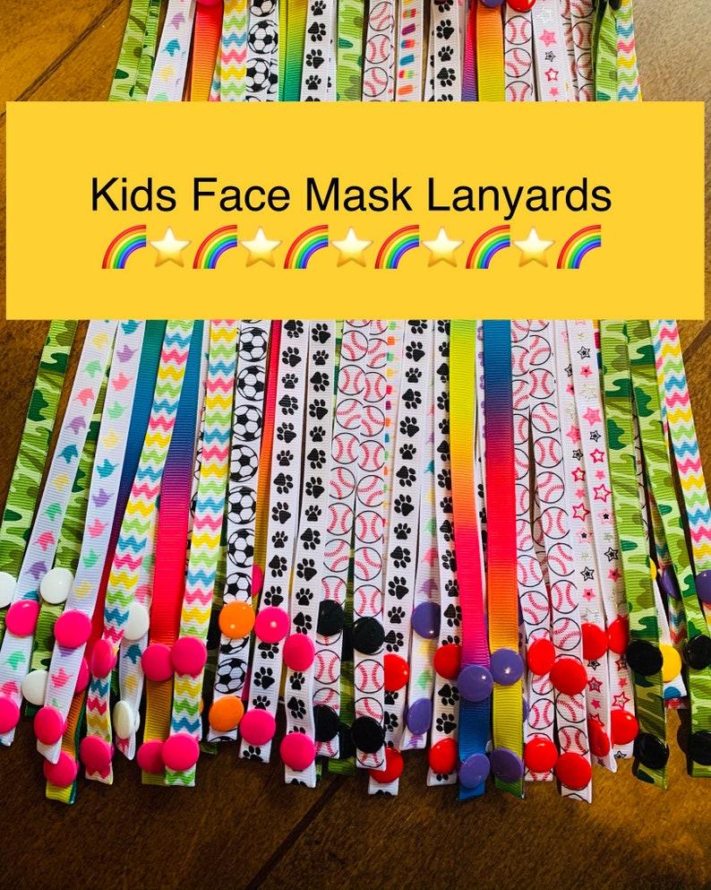 Kids Face Mask Lanyards