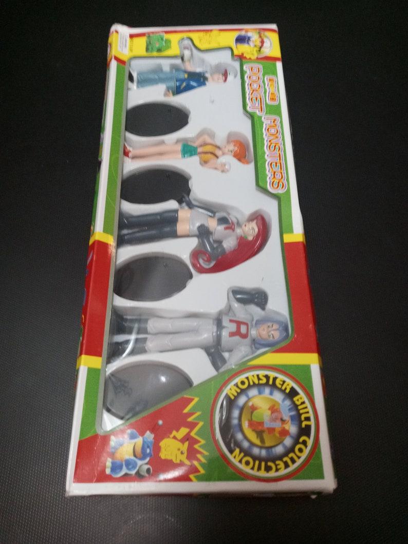 Misty Vintage Japanese Pok\u00e9mon Action Figure Set Ash Jesse James wBases-New!