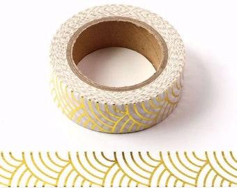 gold bullet diary 15mm x 10m sleek minimalist style Masking tape gold metallic color