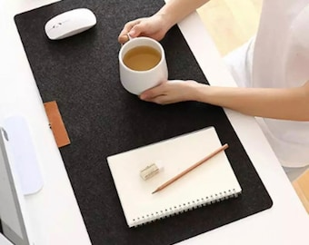100% felt wool desk mat - XL size 60x30cm - for keyboard and mouse computer, laptop, minimalist style