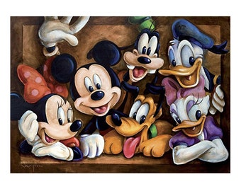Daisy and Pluto Kit 5D Diamond Painting Disney Babies Donald