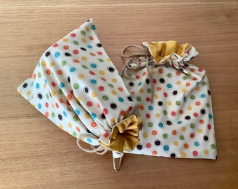 Ducky Fabric Lined Reusable Washable Fabric Gift Bag