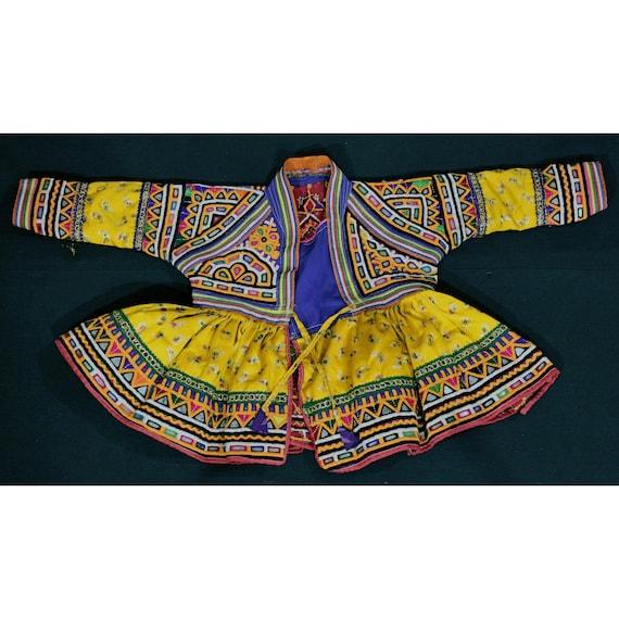 Rabari-work kids dress from Kutch, Gujarat