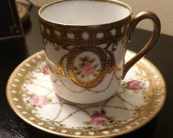 Noritake Demitasse Cup and Saucer, Noritake, Made in Japan, Vintage China