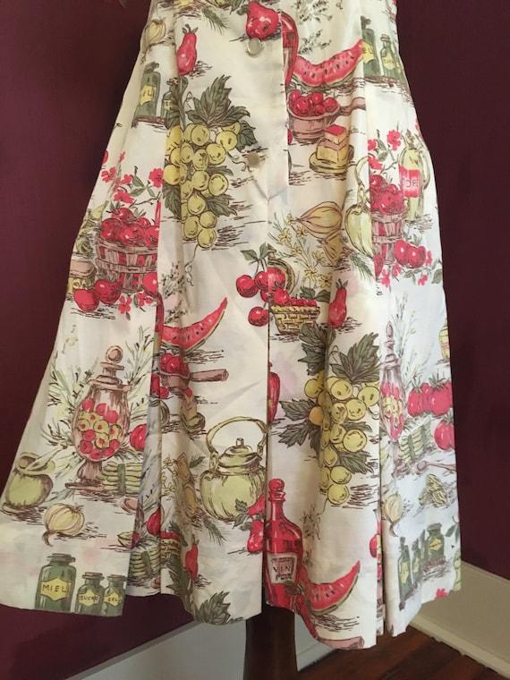 French Novelty Print Day Dress - image 5