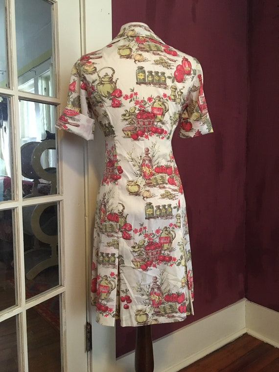 French Novelty Print Day Dress - image 3