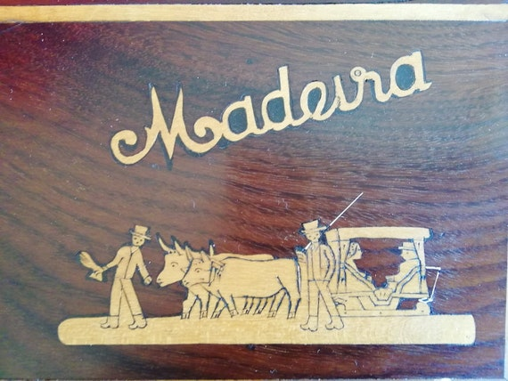 Madeira,  Wooden sewing boxes, handmade Set 40s