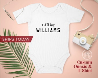 Littlest Name Onesie  / Toddler T-Shirt / Organic Cotton Onesie / Announcement Baby Onesie / Personalized Gift / Ships Next Day /Made in USA