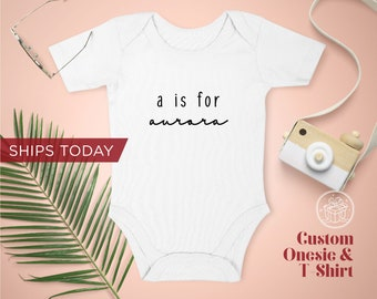 Personalized Baby Name Onesie / Toddler T-Shirt / Organic Custom Baby Onesies / Personalized Baby Onesie / Personalized Gift / Name Onesie