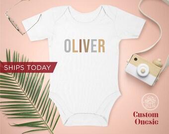 Custom Onesie / Toddler T-Shirt / Organic Custom Baby Onesies / Personalized Baby Onesie / Personalized Gift / Ships Same Day