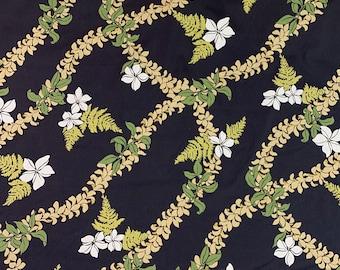 THC Hawaiian Textiles #1556 Yellow Gold PurpleBlue Tapa Polynesian Print Luau Bark Like Cloth  1 yard and 30 inches  x 44 Inches