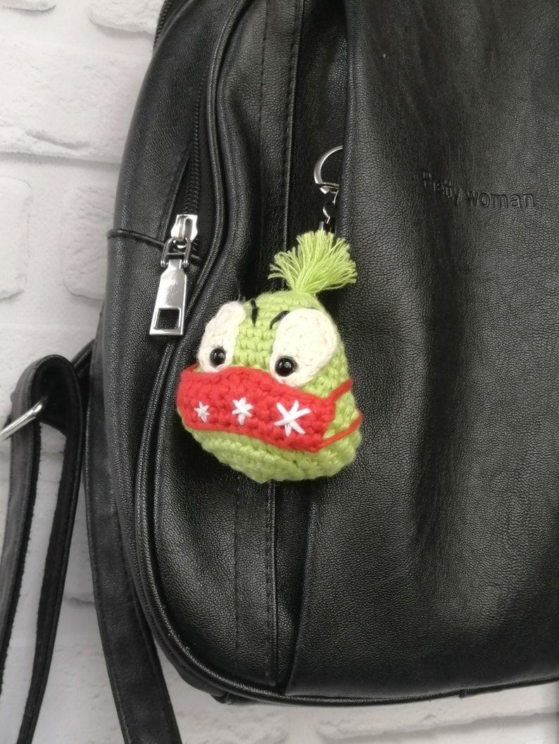 Soft Key chain Key holder Keychain crochet ornament Car Key Pendant Gifts for coworkers Keychain Charm Keyring Fob Crochet Bag charm