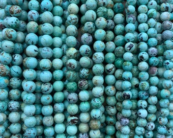 Natural 10mm Round Faceted Blue Turquoise Loose Beads for Jewelry Making los808