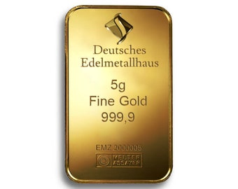 Gold bars as a gift or investment
