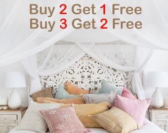 NEW Sky Blue Cactus Silk Pillow 19x20  Sabra Pillow  Moroccan Berber Pillow  Boho Throw Pillow  Boho Cushion  Decorative Pillow