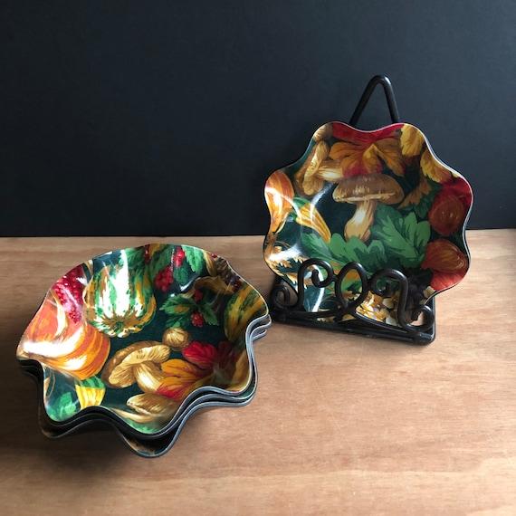 Vintage Mushroom Bowls by Tele-fun - Set of 4