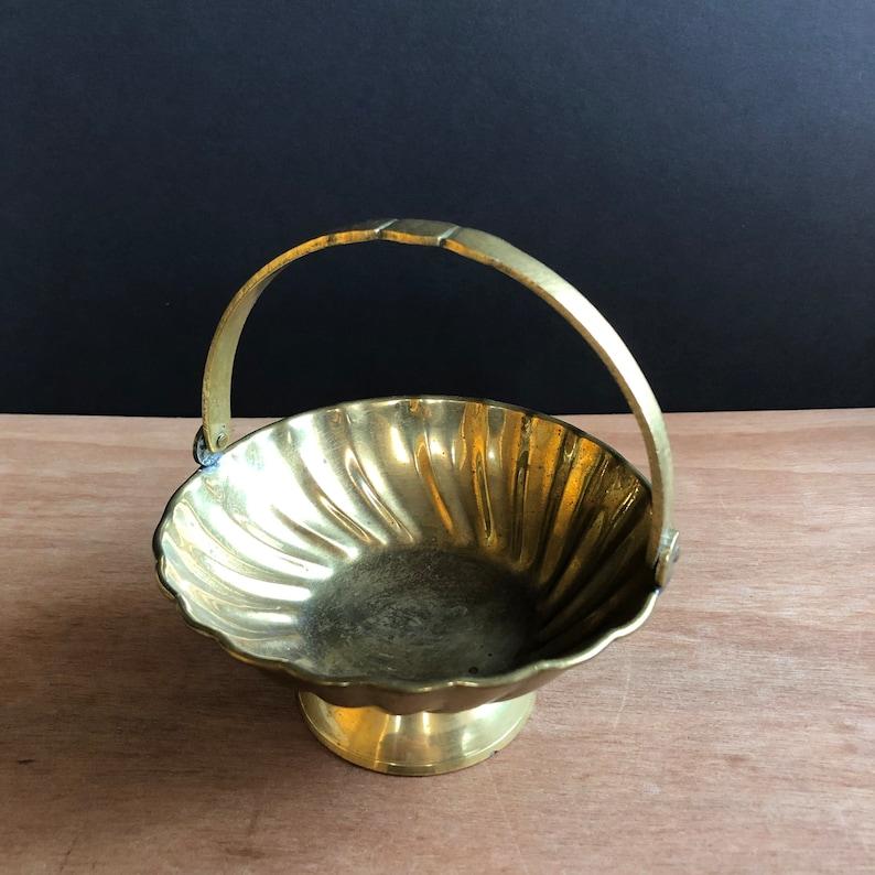 Small Vintage Brass Basket