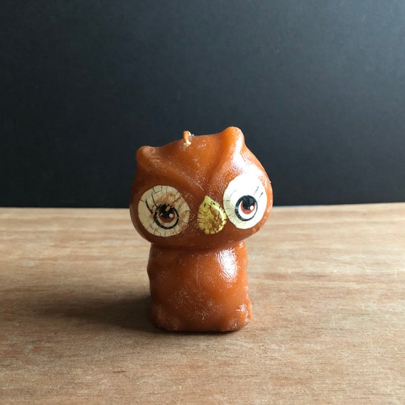 Vintage 1970's Owl Candle