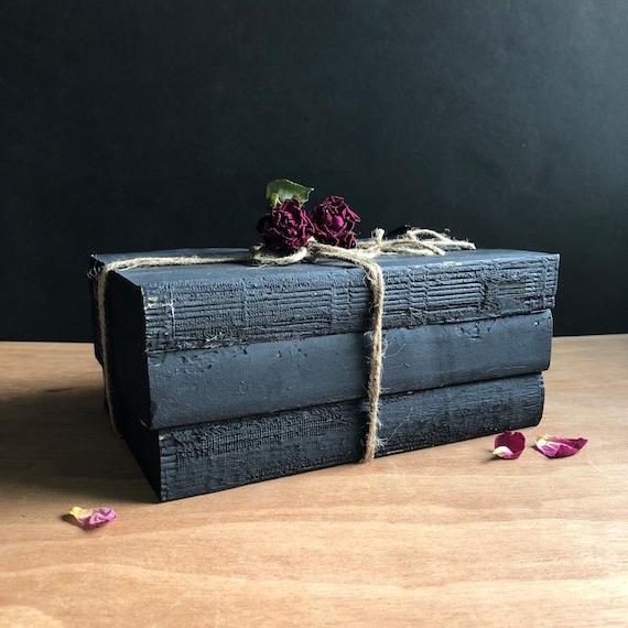 Hand-painted Black Book Bundle - Decor