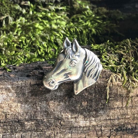 Vintage Silver-tone Equestrian Brooch / Pin